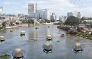 Плавучие аква-фермы на солнечных батареях очищают воздух и воду и производят здоровую пищу